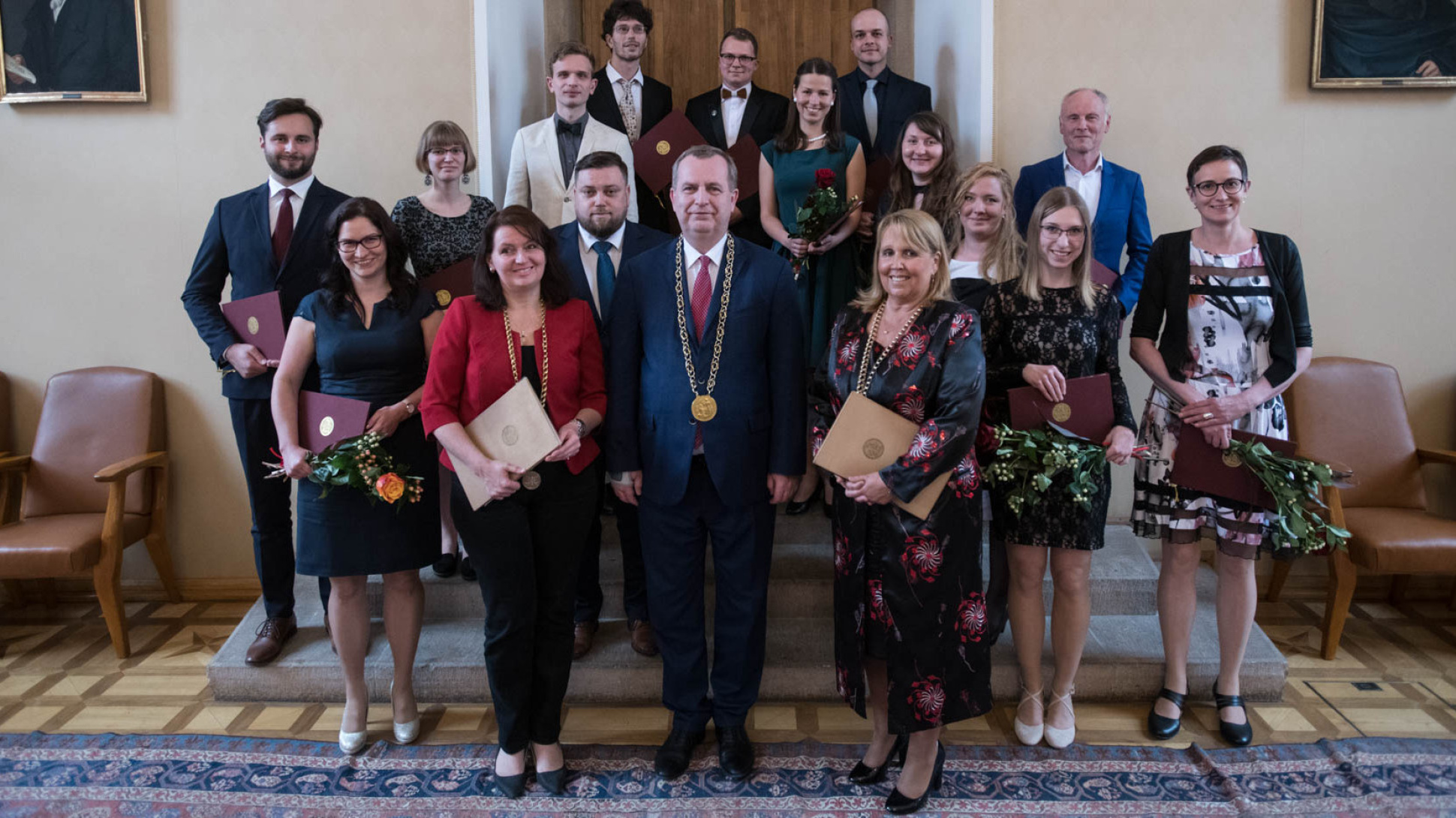 Charles University honours top students and graduates