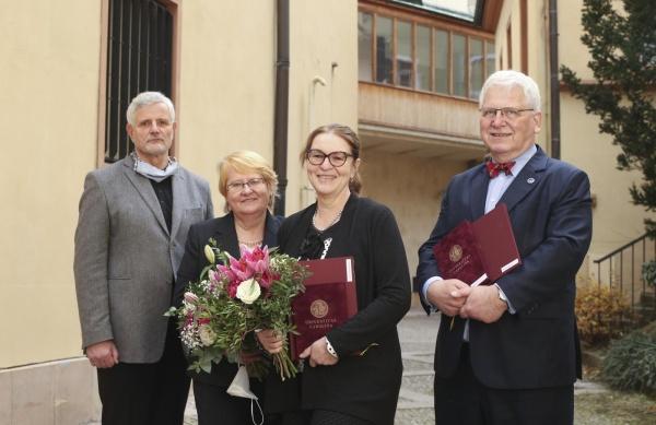 Zleva Jaroslav Kučera, Iva Holmerová, Libuše Čeledová a David Marx.