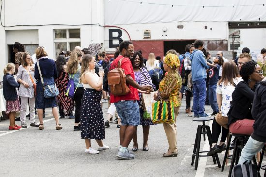 Visitors on Africa Day at Kampus Hybernská. May 25, 2019. Photo: Eva Kořínková