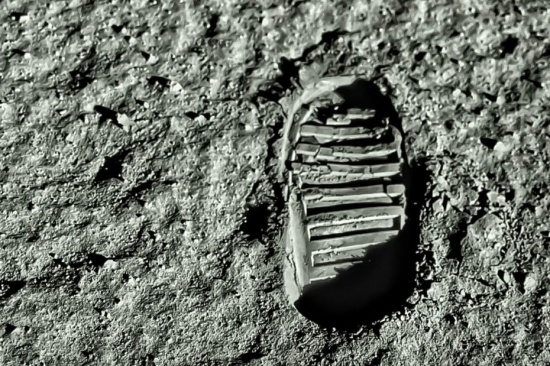 Buzz Aldrin's footprint on the surface of the Moon. Source: Shutterstock.