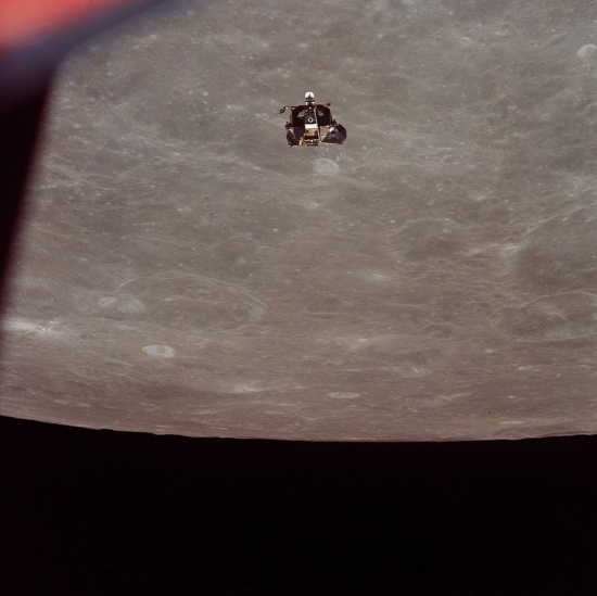 Armstrong and Aldrin's module ascends from the Moon. Source: Shutterstock.